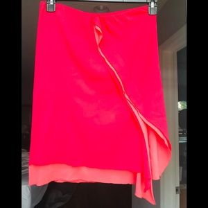 DKNY Bright Red/Pink Skirt - size 4